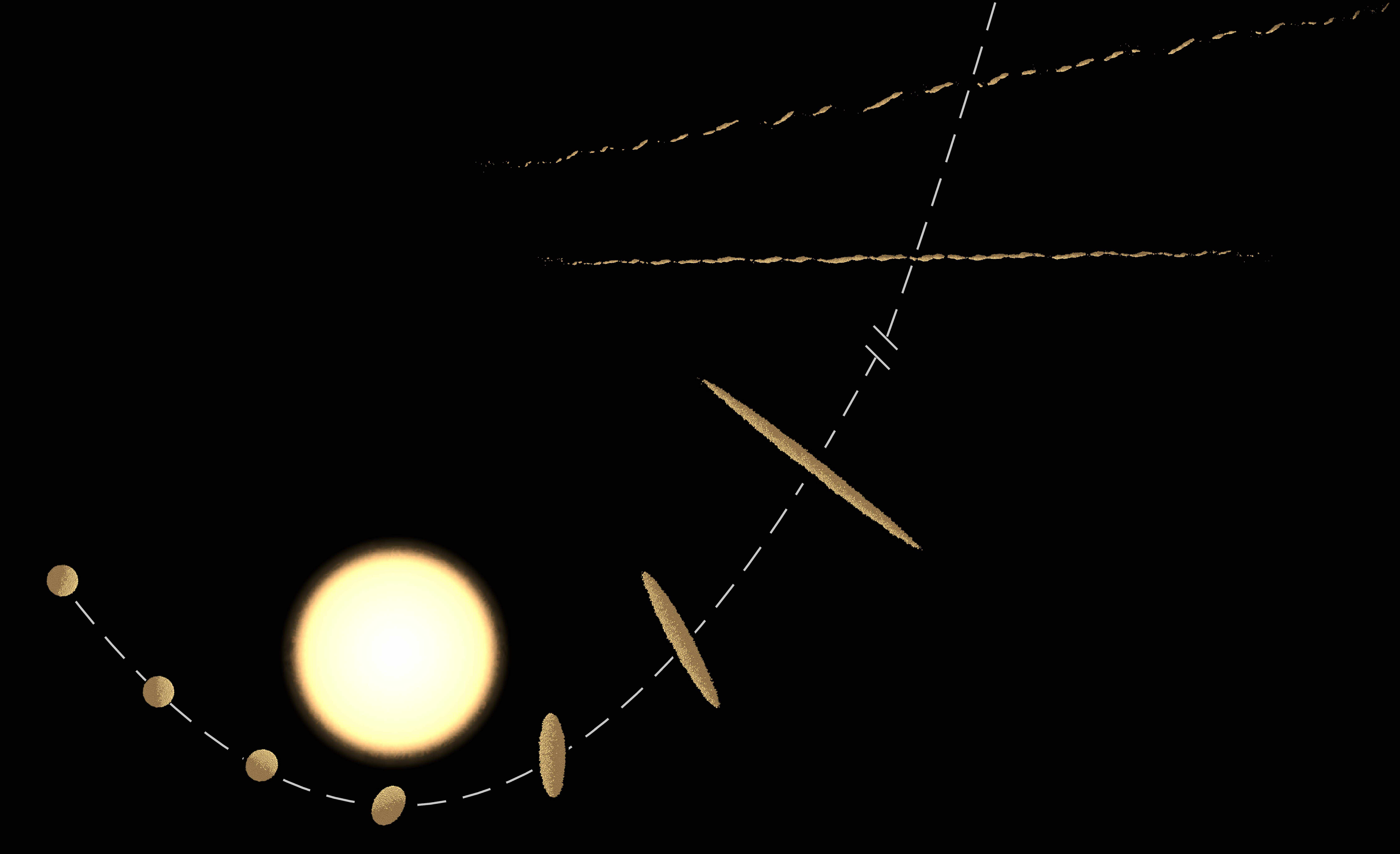 Illustration of stellar tidal disruption processes